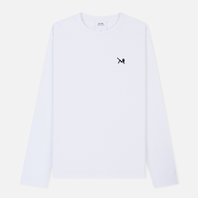 Мужской лонгслив Calvin Klein Jeans Est. 1978 Icon Chest Logo Bright White/Black