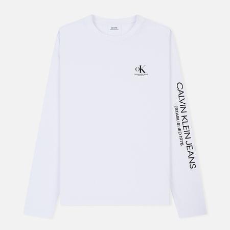 Мужской лонгслив Calvin Klein Jeans Est. 1978 Modernist Logo Bright White/OK