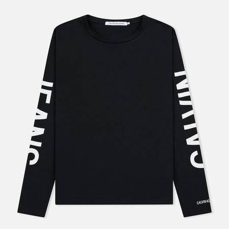 Мужской лонгслив Calvin Klein Jeans Institutional Back Print Black