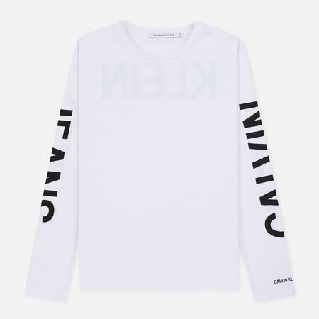 Мужской лонгслив Calvin Klein Jeans Institutional Back Print Bright White