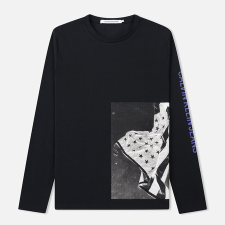 Мужской лонгслив Calvin Klein Jeans USA Flag Printed Black
