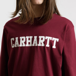 Мужской лонгслив Carhartt WIP College Graphic Print Mulberry/White фото- 2