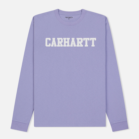 Мужской лонгслив Carhartt WIP College Graphic Print Soft Lavender/White