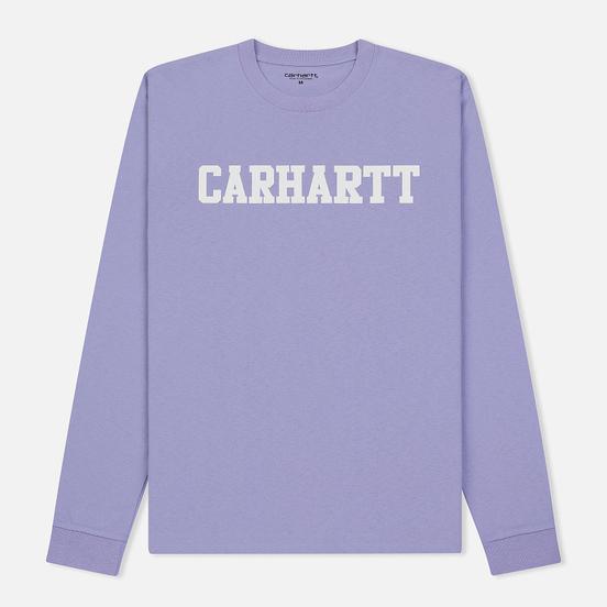 Мужской лонгслив Carhartt WIP College Graphic Print Soft Lavender/White