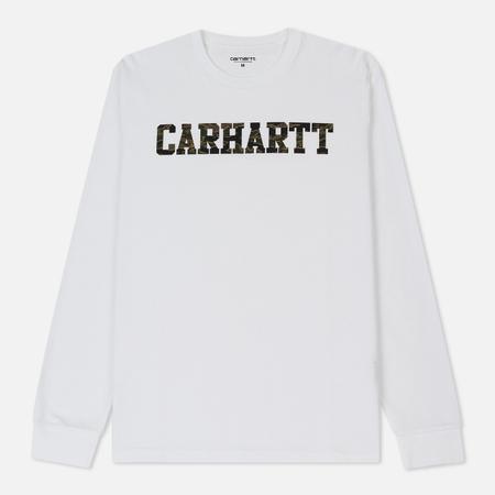 Мужской лонгслив Carhartt WIP College Graphic Print White/Camo Tiger Laurel