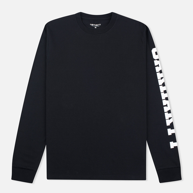 Мужской лонгслив Carhartt WIP College Left Black/White