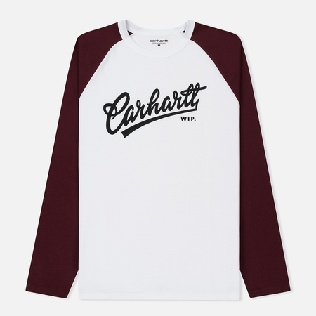 Мужской лонгслив Carhartt WIP Craft Script White/Chianti/Black