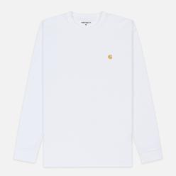 Мужской лонгслив Carhartt WIP L/S Chase White/Gold