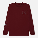 Мужской лонгслив Carhartt WIP L/S Dreaming Cranberry/Light Yucca фото- 0