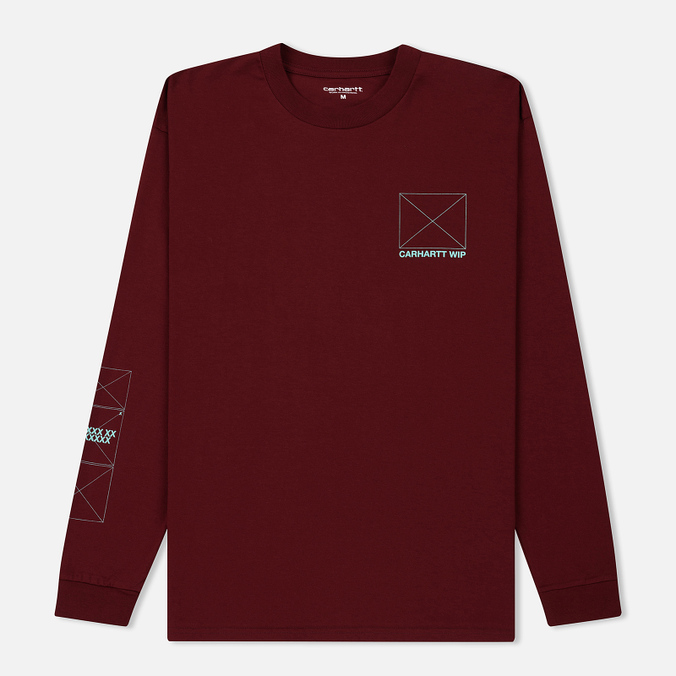 Мужской лонгслив Carhartt WIP L/S Dreaming Cranberry/Light Yucca