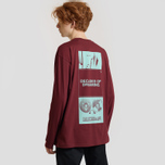 Мужской лонгслив Carhartt WIP L/S Dreaming Cranberry/Light Yucca фото- 3