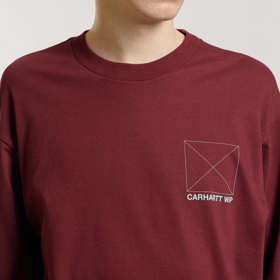 Мужской лонгслив Carhartt WIP L/S Dreaming Cranberry/Light Yucca