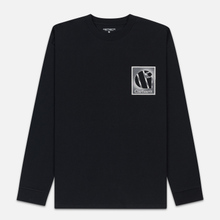 Мужской лонгслив Carhartt WIP L/S Foundation Black/White фото- 0