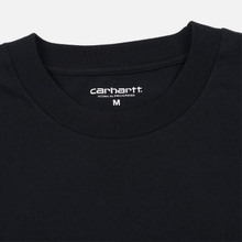 Мужской лонгслив Carhartt WIP L/S Foundation Black/White фото- 1