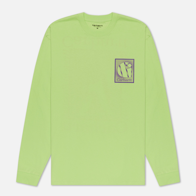 Мужской лонгслив Carhartt WIP L/S Foundation Lime/Snape Purple