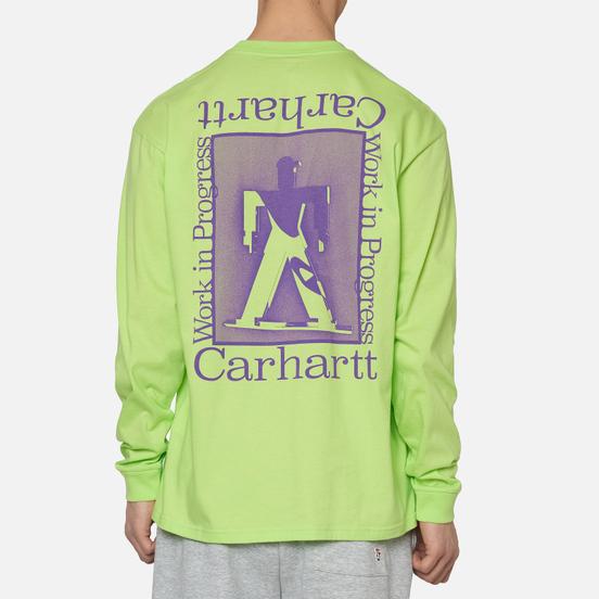 Мужской лонгслив Carhartt WIP L/S Foundation Lime/Snape Purple