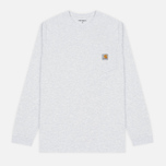 Мужской лонгслив Carhartt WIP L/S Pocket Ash Heather фото- 0