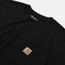 Мужской лонгслив Carhartt WIP L/S Pocket Black фото- 1