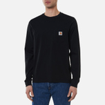Мужской лонгслив Carhartt WIP L/S Pocket Black фото- 0