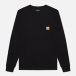 Мужской лонгслив Carhartt WIP L/S Pocket Black фото- 1