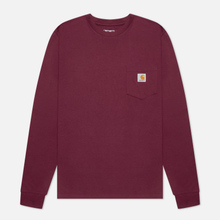 Мужской лонгслив Carhartt WIP L/S Pocket Shiraz фото- 0