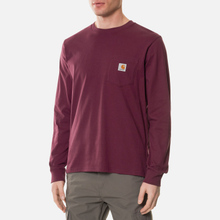 Мужской лонгслив Carhartt WIP L/S Pocket Shiraz фото- 2