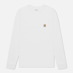 Мужской лонгслив Carhartt WIP L/S Pocket White