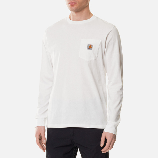 Мужской лонгслив Carhartt WIP L/S Pocket White