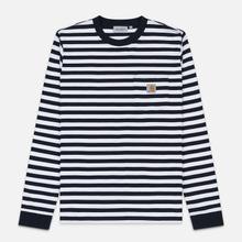 Мужской лонгслив Carhartt WIP L/S Scotty Pocket Stripe Dark Navy/White фото- 0
