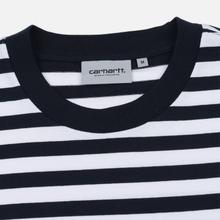Мужской лонгслив Carhartt WIP L/S Scotty Pocket Stripe Dark Navy/White фото- 1