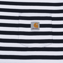 Мужской лонгслив Carhartt WIP L/S Scotty Pocket Stripe Dark Navy/White фото- 2