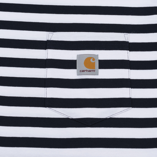 Мужской лонгслив Carhartt WIP L/S Scotty Pocket Stripe Dark Navy/White