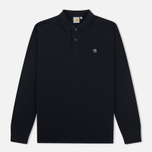 Мужской лонгслив Carhartt WIP Patch Polo Black фото- 0