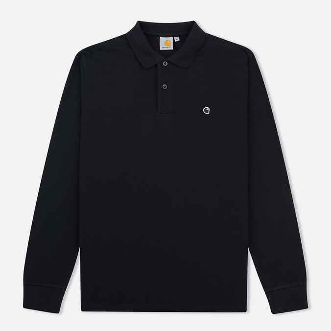 Мужской лонгслив Carhartt WIP Patch Polo Black