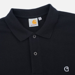 Мужской лонгслив Carhartt WIP Patch Polo Black фото- 1