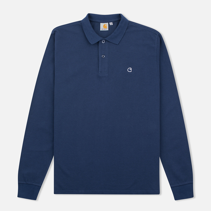 Мужской лонгслив Carhartt WIP Patch Polo Blue