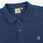 Мужской лонгслив Carhartt WIP Patch Polo Blue фото- 1