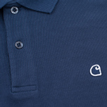 Мужской лонгслив Carhartt WIP Patch Polo Blue фото- 2