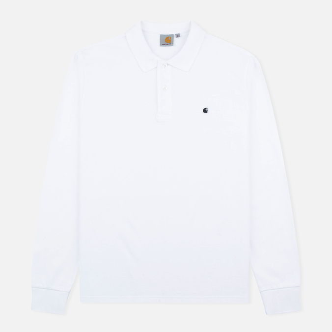 Мужской лонгслив Carhartt WIP Patch Polo White