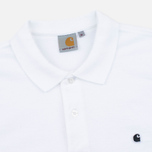 Мужской лонгслив Carhartt WIP Patch Polo White фото- 1