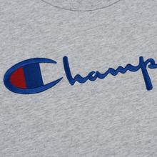 Мужской лонгслив Champion Reverse Weave Big Script Crew Neck Light Grey фото- 2