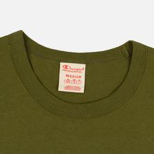 Мужской лонгслив Champion Reverse Weave Big Script Crew Olive Green фото- 1