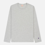 Мужской лонгслив Champion Reverse Weave Classic Crew Neck Heather Grey фото- 0