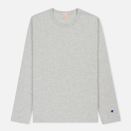 Мужской лонгслив Champion Reverse Weave Classic Crew Neck Heather Grey