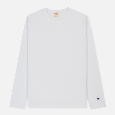 Мужской лонгслив Champion Reverse Weave Classic Crew Neck White
