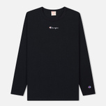Мужской лонгслив Champion Reverse Weave Oversized Script Logo Black фото- 0