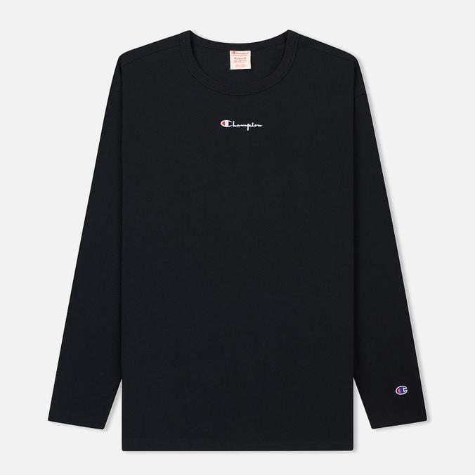 Мужской лонгслив Champion Reverse Weave Oversized Script Logo Black