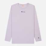 Мужской лонгслив Champion Reverse Weave Oversized Script Logo Lavender фото- 0