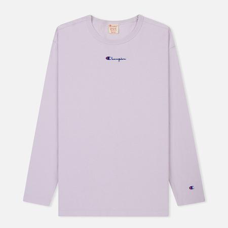 Мужской лонгслив Champion Reverse Weave Oversized Script Logo Lavender