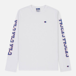Мужской лонгслив Champion Reverse Weave x Beams Crew Neck LS White фото- 0